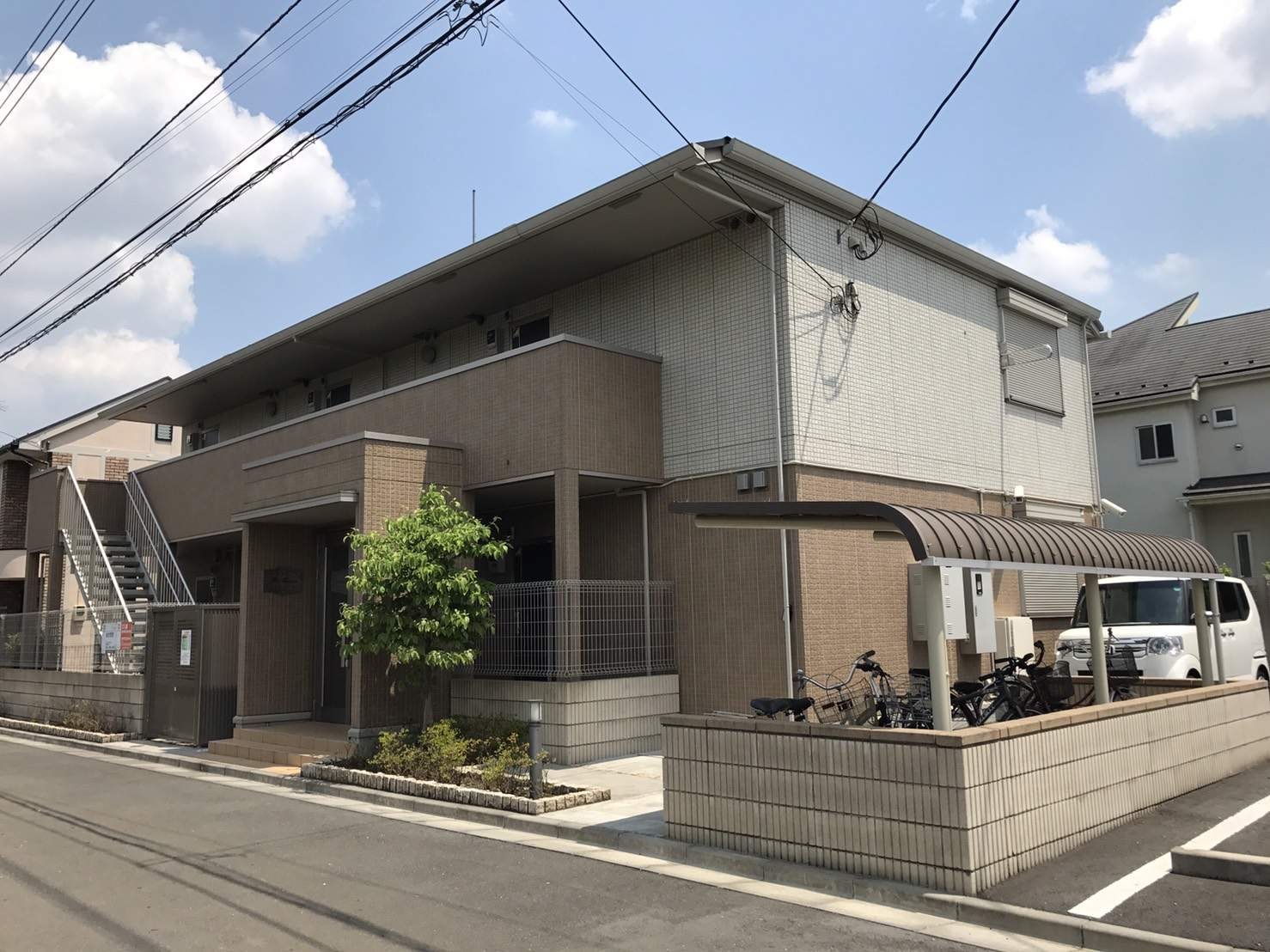 東京都国分寺市、西国分寺駅徒歩15分の築4年 2階建の賃貸アパート