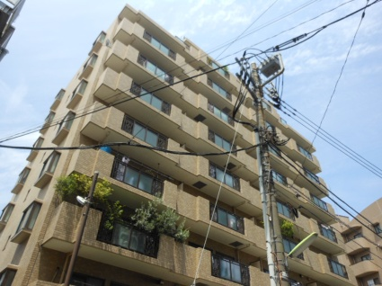 東京都世田谷区、駒沢大学駅徒歩12分の築22年 9階建の賃貸マンション