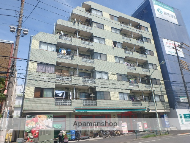 東京都江戸川区、新小岩駅徒歩25分の築28年 7階建の賃貸マンション