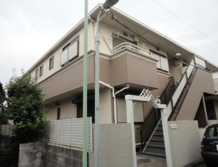 東京都目黒区、都立大学駅徒歩15分の築25年 2階建の賃貸アパート