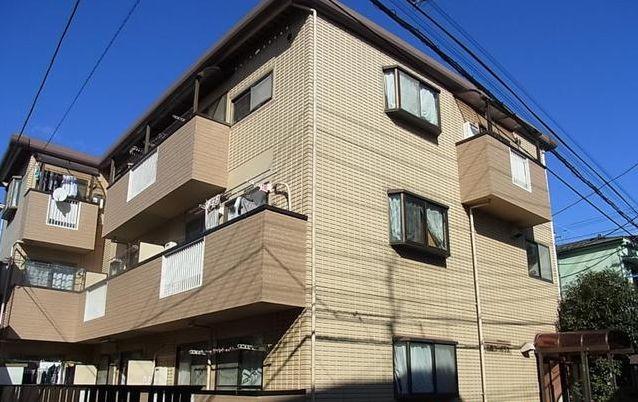 東京都目黒区、武蔵小山駅徒歩14分の築24年 3階建の賃貸アパート