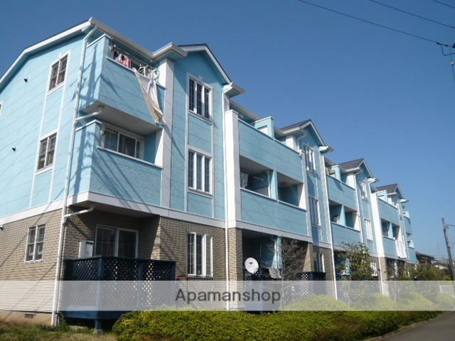 神奈川県横浜市青葉区、江田駅徒歩12分の築19年 3階建の賃貸アパート