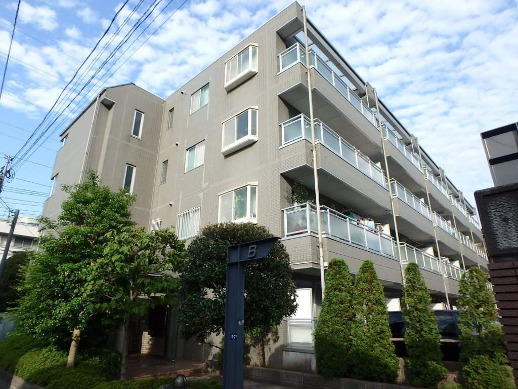 神奈川県横浜市港北区、元住吉駅徒歩18分の築22年 4階建の賃貸マンション