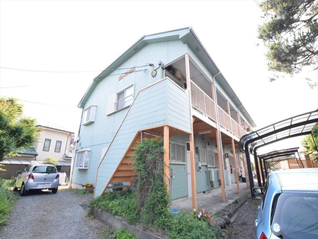 神奈川県相模原市中央区、相模原駅徒歩17分の築27年 2階建の賃貸アパート
