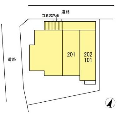 BELIEVE[1K/22.52m2]の配置図