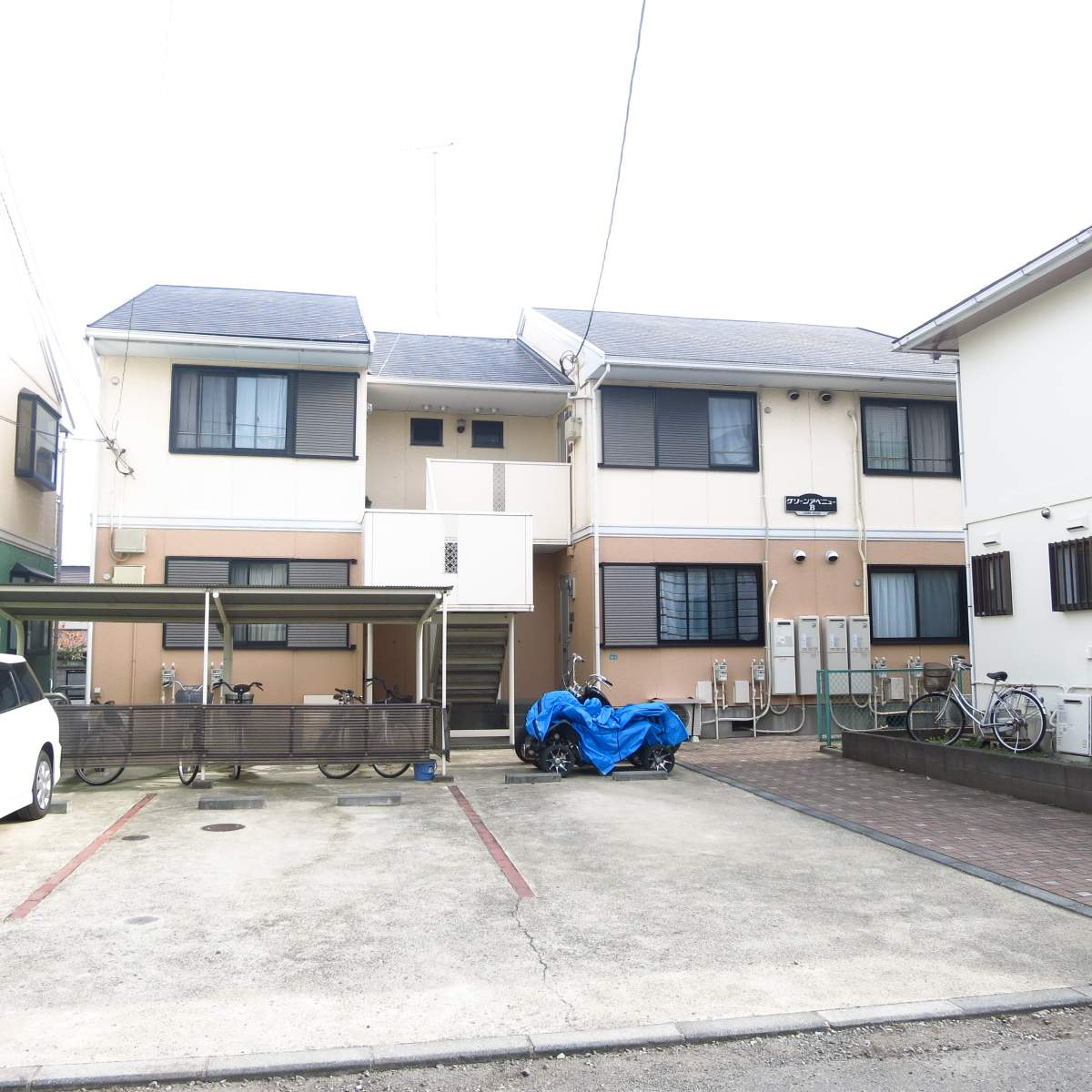神奈川県相模原市中央区、古淵駅徒歩22分の築25年 2階建の賃貸アパート