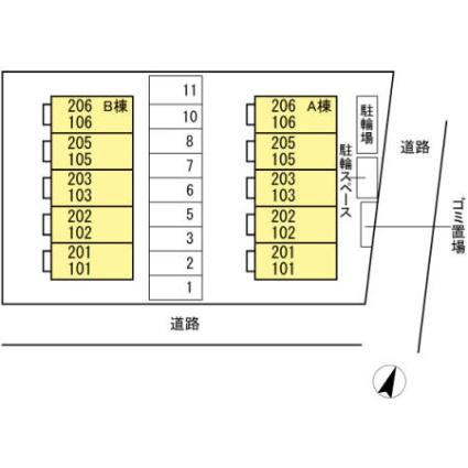 東京都八王子市堀之内[1R/30.27m2]の配置図