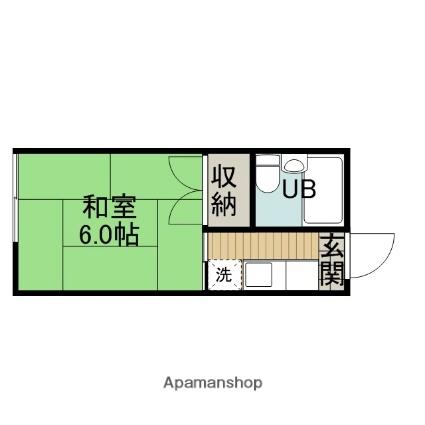 第一藤美荘[1R/17.5m2]の間取図