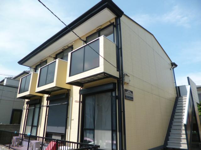 神奈川県横須賀市、堀ノ内駅徒歩22分の築18年 2階建の賃貸アパート