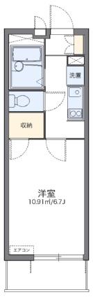 レオパレスアドバンス鶴見[1K/20.81m2]の間取図