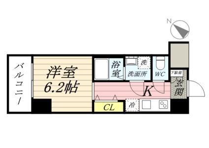 神奈川県川崎市川崎区池田1丁目[1R/22.47m2]の間取図