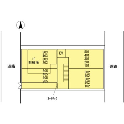 神奈川県川崎市中原区下小田中2丁目[1DK/30.34m2]の配置図