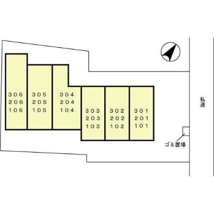 神奈川県横浜市南区弘明寺町[1R/22.78m2]の配置図