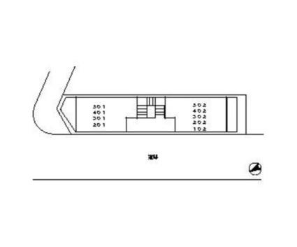 KIビル[1K/21.05m2]の配置図