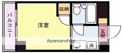 アクトピア横浜・鶴見Ⅰ[1R/16.5m2]の間取図
