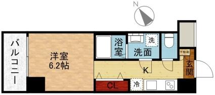 メイクスデザイン川崎[1R/22.47m2]の間取図