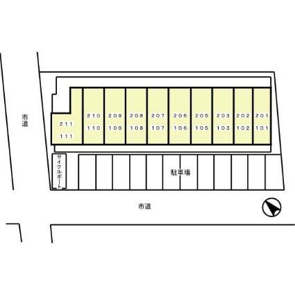 神奈川県川崎市川崎区昭和2丁目[1K/26.27m2]の配置図