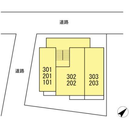 神奈川県横浜市神奈川区浦島町[1K/26.08m2]の配置図