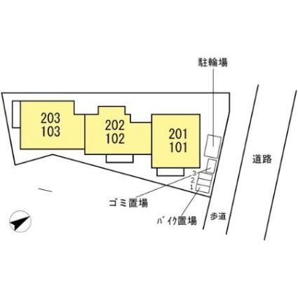 神奈川県横浜市神奈川区西大口[1LDK/43.6m2]の配置図