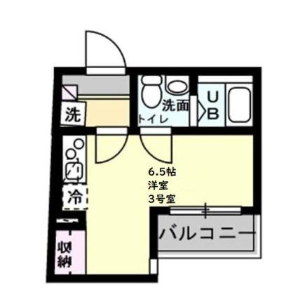 神奈川県横浜市磯子区森2丁目[1R/18.06m2]の間取図