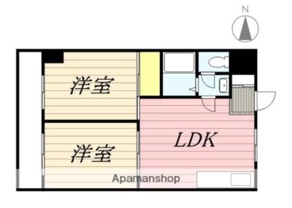 パウロニアバレーテイク3天王町[2LDK/42.61m2]の間取図