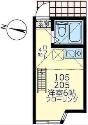 ユナイト根岸ヘルマン・ヘッセ[1R/12.5m2]の間取図