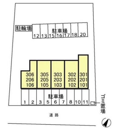 神奈川県横浜市保土ケ谷区権太坂1丁目[1LDK/37.4m2]の配置図