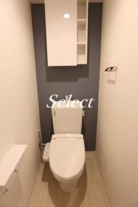 神奈川県横浜市磯子区磯子3丁目[1K/26m2]のトイレ
