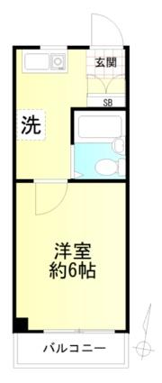 神奈川県横浜市磯子区杉田5丁目[1K/16m2]の間取図