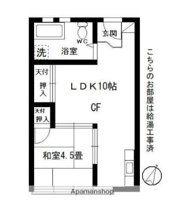 大和ビル[1LDK/31.87m2]の間取図