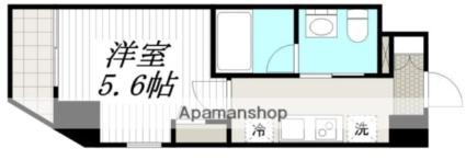 Log横浜駅東[1K/21m2]の間取図