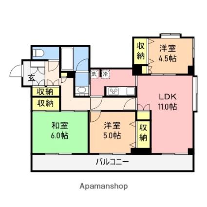 新潟県新潟市中央区本町通11番町[3LDK/71.24m2]の間取図