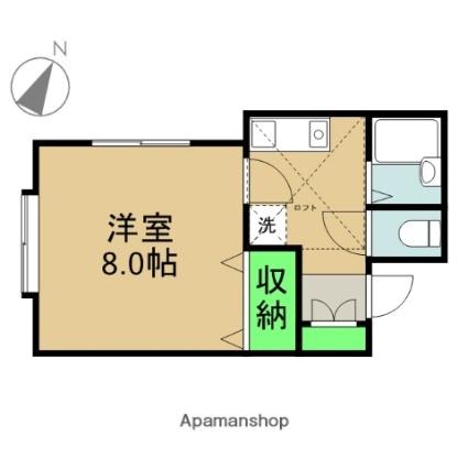 新潟県新潟市中央区関屋田町2丁目[1K/25m2]の間取図