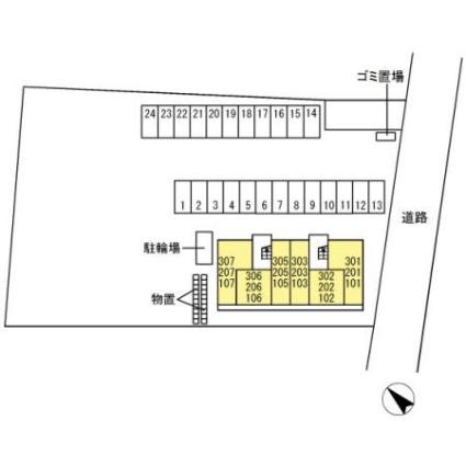 EISEN[1LDK/40.43m2]の配置図