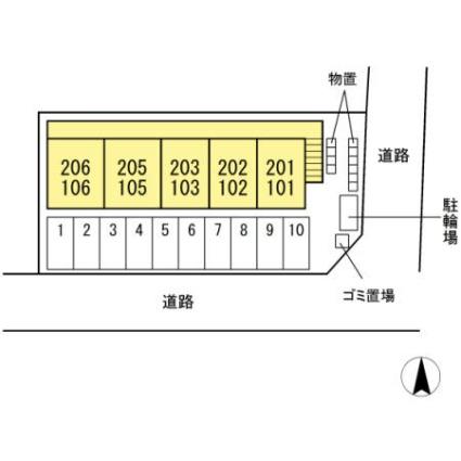 アクシス寺町[1R/32.38m2]の配置図