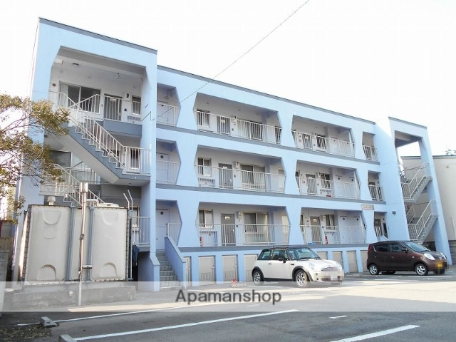 新潟県新潟市西区、小針駅徒歩10分の築40年 3階建の賃貸マンション