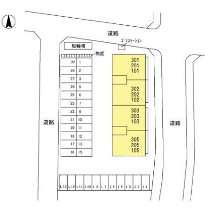 セブンワンテン L[3LDK/71.81m2]の配置図
