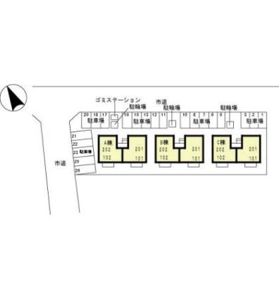 マウルール ABC[2LDK/55.45m2]の配置図