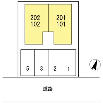 モイドーム松海が丘[1LDK/39.95m2]の配置図
