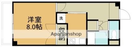 エクセランス文京町[1K/32.04m2]の間取図