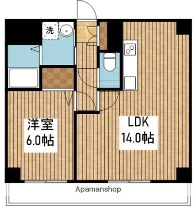 デリスガーデン女池[1LDK/40.32m2]の間取図