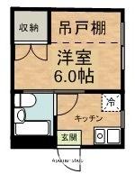 新潟ステーションハイツ[1K/20.7m2]の間取図