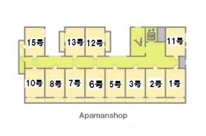 新潟ステーションハイツ[1K/20.7m2]の配置図