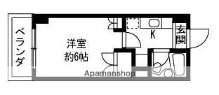 プレステージ新潟[1K/19.1m2]の間取図