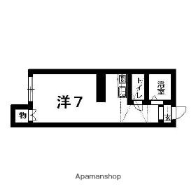 ロイヤルヒルズ桜ヶ丘[1R/19.93m2]の間取図