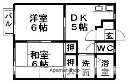 パストラール近江[2DK/39.74m2]の間取図