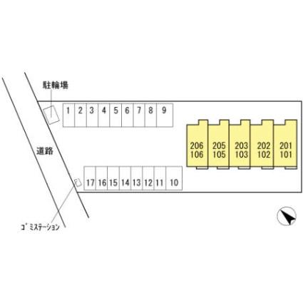 コンフォルト[1LDK/55.4m2]の配置図