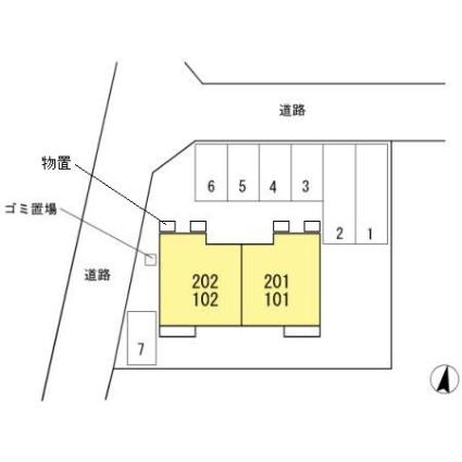 ロイヤルC[1LDK/39.92m2]の配置図
