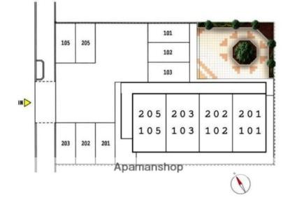 ファム[1R/28m2]の配置図