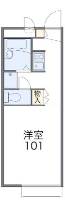 レオパレスプレミール[1K/19.87m2]の間取図